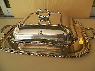 Vntg Egw&s Silverplated Covered Dish & Matching Tray