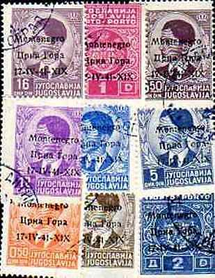 Montenegro 50 timbres différents