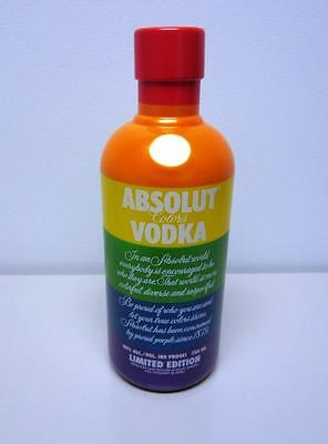 Absolut Rainbow Gay Pride LGBT 3-Piece Plastic Bottle Gift Cover 750ml Vodka