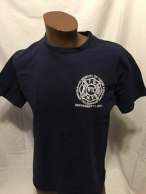 FDNY 9/11/01 Supreme Sacrifice NYC firefighter Large Tshirt Fire THE BRAVEST
