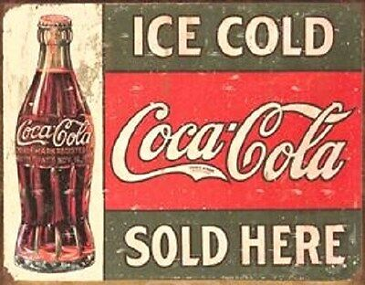 Coke ICE COLD COCA - COLA SOLD HERE   Miniature  2 X 3 Inch Sign Magnet
