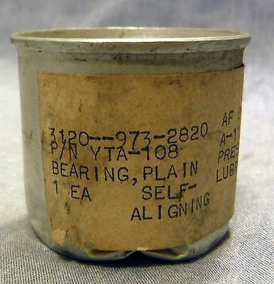 NOS Vintage US Military Bearing, Plain Self Aligning YTA-108 1963 Sealed in Can