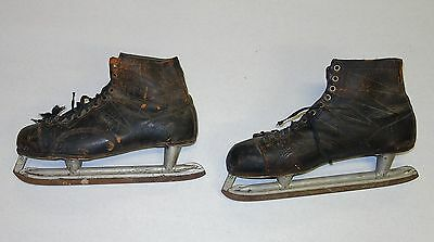 Vintage Mens Black Ice Skates From The 1950's Ice Ace Bailey