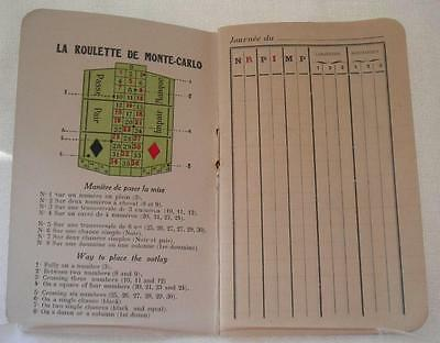 RouletteTracking Book Vintage Monte Carlo
