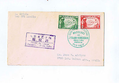 Japanese Occupation Philippines stamps on envelope (1)