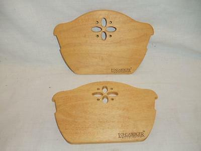 NEW Longaberger Two (2) 50008 Wood Wooden Dividers for Bread Basket