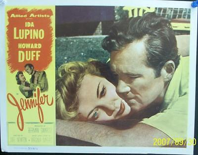 Howard Duff Ida Lupino Original Film Noir Mystery Us Lobby Card To Jennifer