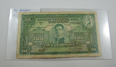 1952 PARAGUAY 100 GUARANIES banknote. Fine