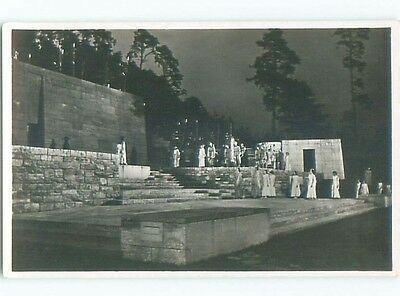 1936 rppc NAZI - THEATER PLAY - THE DETAILS OF HERCULES Berlin GERMANY o1261