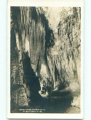 1935 rppc - QUEEN'S ROOM AT CARLSBAD CAVERN Carlsbad New Mexico NM p2286