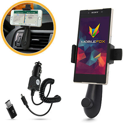 car holder Mount & Micro USB charger cable Set for Sony Xperia XZ/X Compact