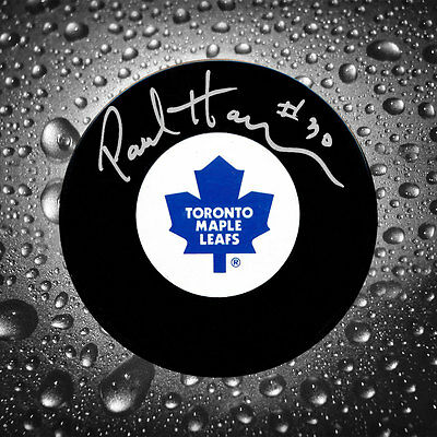 Paul Harrison Toronto Maple Leafs Autographed Puck