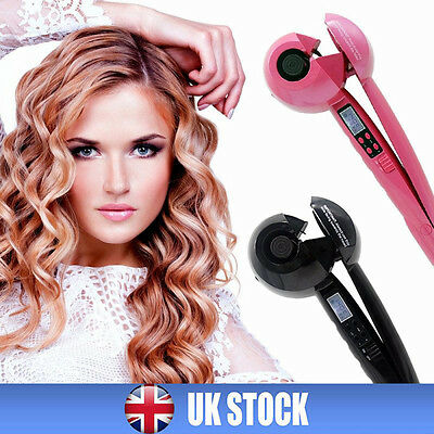 Pro Automatic Electric Hair Curler Curling Iron Roller Tool Ceramic LCD Display