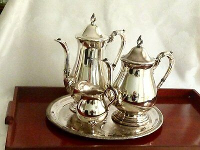 Wonderful Vintage Silver Plated Tea & Coffee Set On Tray Viners