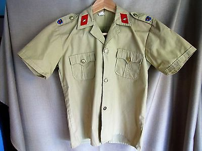 Rare Vintage Original Young Pioneers of China Army Shirt with Insignia