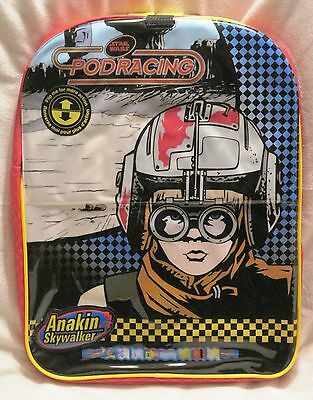 Brand-New With Tags - Star Wars - 2 Covers - Flip Style Pod Racing Backpack!