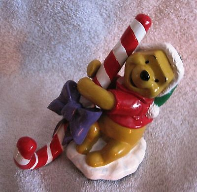 Like-New - Winnie The Pooh - Beautiful - Candy-Cane - Stocking Hanger - Disney!!