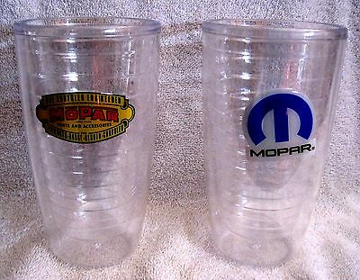 Very Nice Set Of 2 Plastic Mopar -- Tumbler Glasses Cups - Great Gift Items !