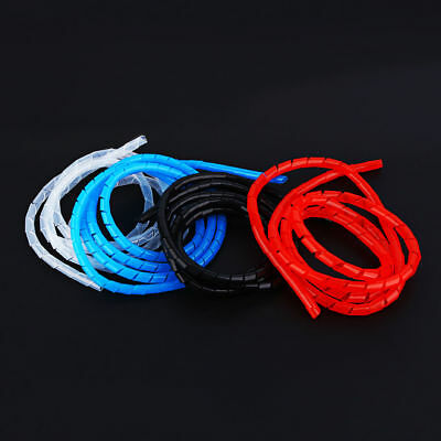 1/2/5/10M 6mm Gaine Ruban Tube Spiral Cache Fils Rigide Wire Sleeve 4 Couleurs
