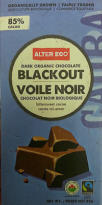 4 Alter Eco Black Out Dark Organic Chocolate Bars Made with 85% Cacao