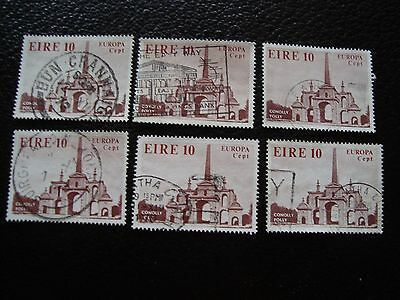 IRLANDE - timbre yvert et tellier n° 394 x6 obl (A33) stamp ireland (T)