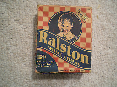 Ralston Sample Size Wheat Cereal Box Tom Mix Era 1941 Complete