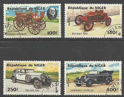 Timbres Voitures Niger 644/7 o lot 6333