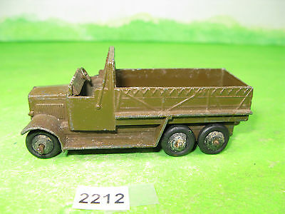 vintage dinky toys military diecast 151B 6 wheel army truck chocolate brown 2212