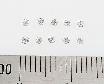 LOOSE DIAMONDS - 10x  1.5mm Round Brilliant Cut Natural Diamonds - FREE POST