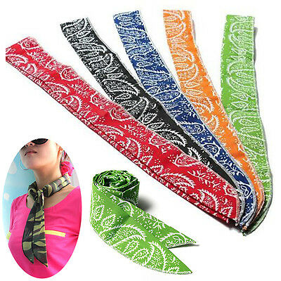 1PC Summer Neck Cooler Scarf Body Ice Cool Cooling Wrap Necktie Headband