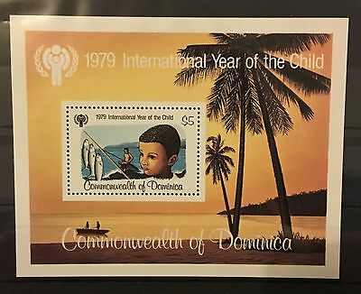 MINT stamp sheet with inset stamp - Dominica 'Year of the Child' 1979