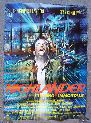 FRENCH Highlander POSTER (1986) 26 x 39 inches, Christopher Lambert,Sean Connery