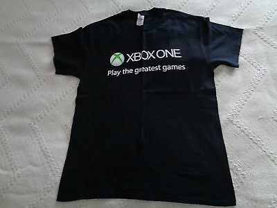 Mens black t shirt XBox one staff game Black Friday weekend on back