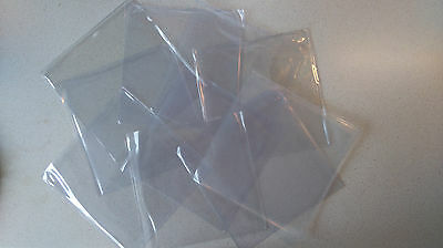 "10 x 7"" inch Vinyl Single Plastic Polythene Record Sleeve Covers 45rpm Hard Wear"