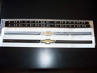 Chevrolet Silverado Cheyenne Edition emblem package kit 07-13 Silverado