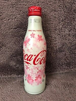 coca cola japan 2017 SAKURA ALUMINUM bottle full bottle