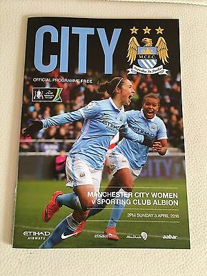 Manchester City Women FC v Sporting Club Albion FC Football Programme (2016)