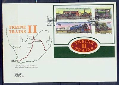 bophuthatswana/1993 trains s/s-fdc/mnh.good condition