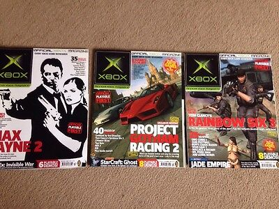 Official XBOX Magazine issues 22 23 24 Nov Dec and Xmas issues 2003 ex cond
