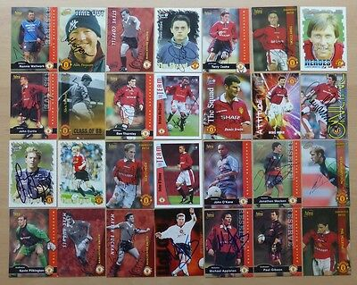Manchester United Signed Trading Cards - Futera, Promatch, Proset, Busby Babes