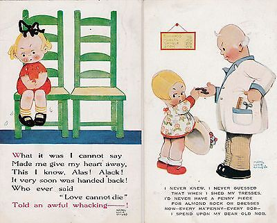 Mabel Lucie Attwell-  Valentines  Nos 1093 &1099.