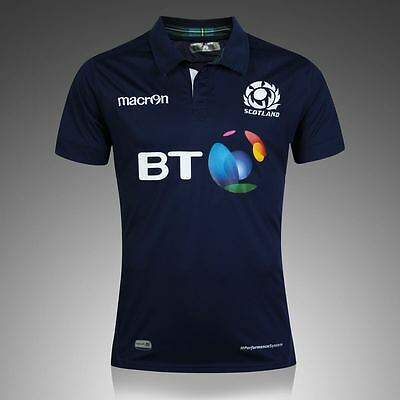 Brand New Macron Scotland Rugby Home Shirt - Limited Stock - Rugby Union