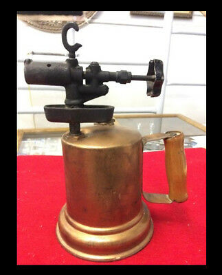 Antique Torch Copper? Rare Stamped Patina Steampunk Blow Torch Welder