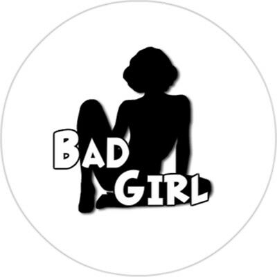 Button 25mm - Bad Girl