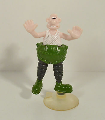 """4"""" Wallace & Gromit Wrong Trousers 1989 Applause Suction Cup PVC Action Figure"""