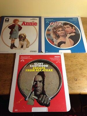 VideoDisc Lot Of 3 Escape From Alcatraz Grease Annie Part Two Rca Laserdisc