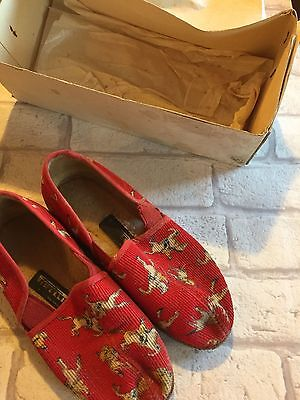 C1950s/60s Childrens Slippers Pony Show Jumping Retro Boxed