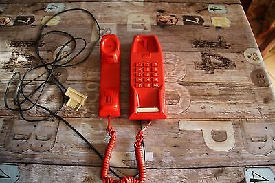 Telephone Mural Rouge Matra Vintage Matracom 25