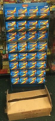 Matchbox Shop Display With Trade Carton And 72 Empty Boxes. 1981 Lesney Products