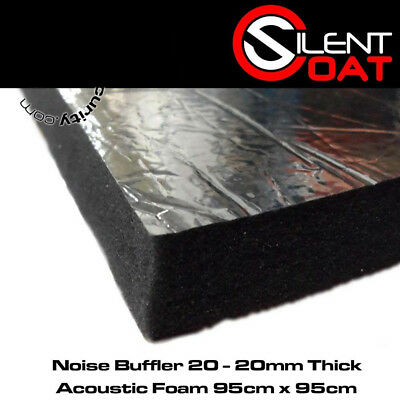 Silent Coat Noise Buffler 20 - 20mm Thick Acoustic Foam 95cm x 95cm Single Sheet